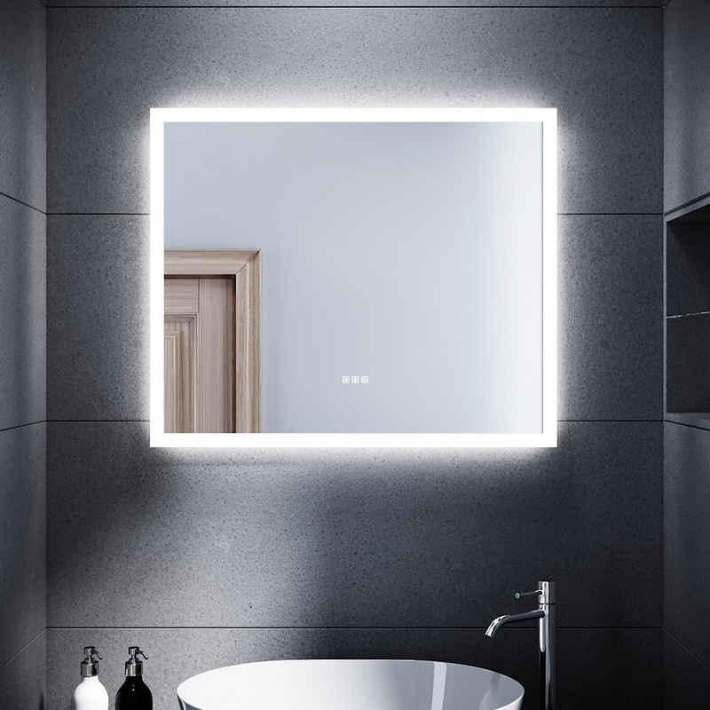 SONNI Badspiegel »LED Bad Speigel mit Bluetooth Badspiegel mit Beleuchtung 60 x 50 cm Lautsprecher kaltweiß Touchschalter LED Badezimmer Lichtspiegel«