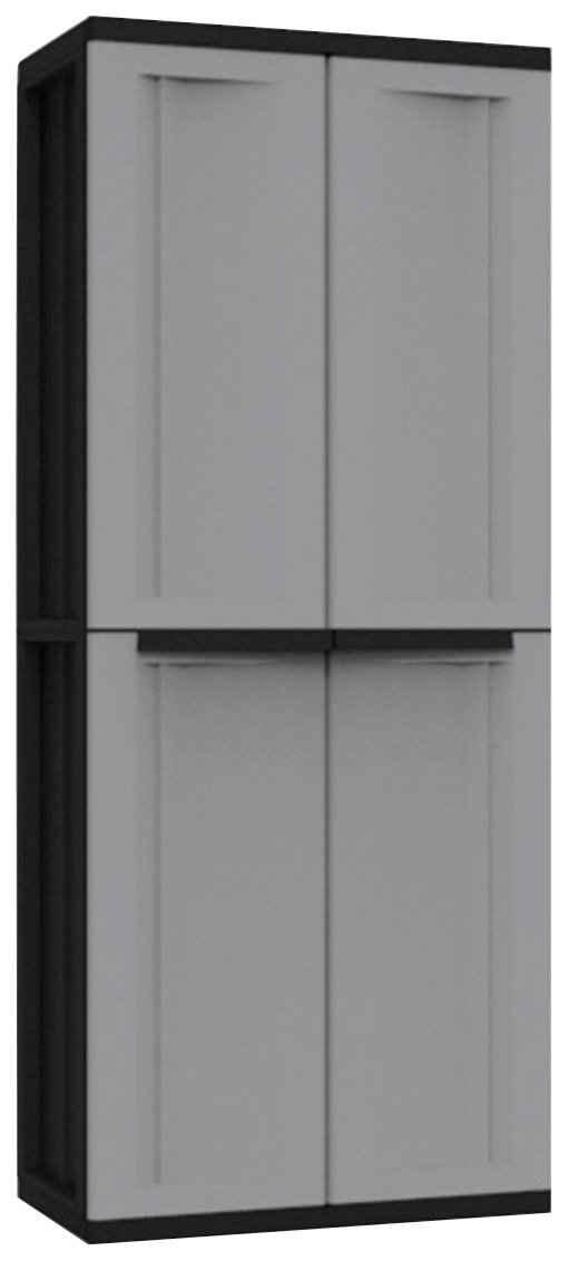 Kreher Mehrzweckschrank »J-twist« B/T/H: 68x37,5x163,5 cm, 3 Einlegeböden, Kunststoff