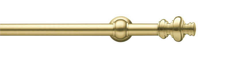 Gardinenstange »Andrea Profil groß«, GARESA, Ø 20 mm, 1-läufig, Wunschmaßlänge, inkl. je 10 cm einen Ring + FH, Träger, Endknöpfe