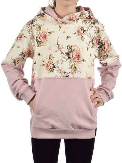 KMISSO Hoodie »Mädchen Pullover mit Kapuze Rosenmuster« (1-tlg) Hoodie