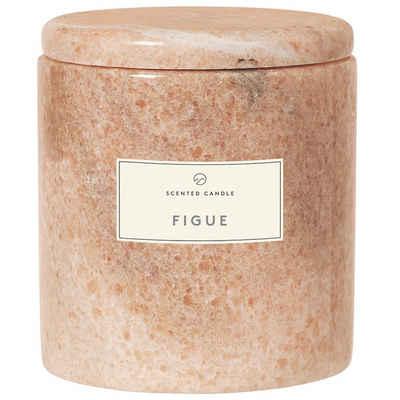 BLOMUS Duftkerze »Frable FIGUE; Wohlduftende Kerze in dekorativem Marmorgefäß in Indian Tan; Palmölfrei«
