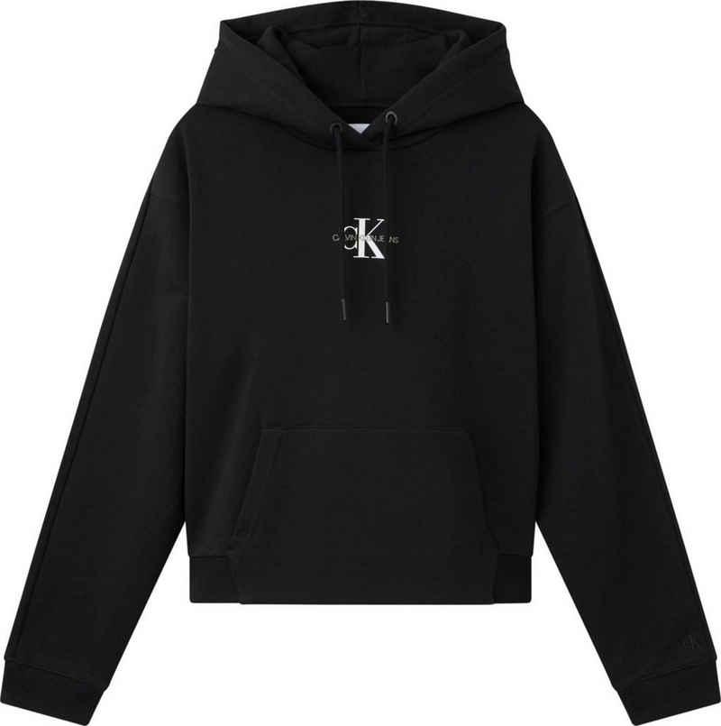 Calvin Klein Jeans Kapuzensweatshirt »Cropped Monogram Hoodie« mit CK Monogramm Logo & Schriftzug