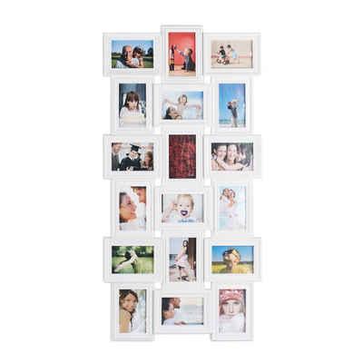 relaxdays Staffelbilderrahmen »Bilderrahmen Collagen 18 Bilder«