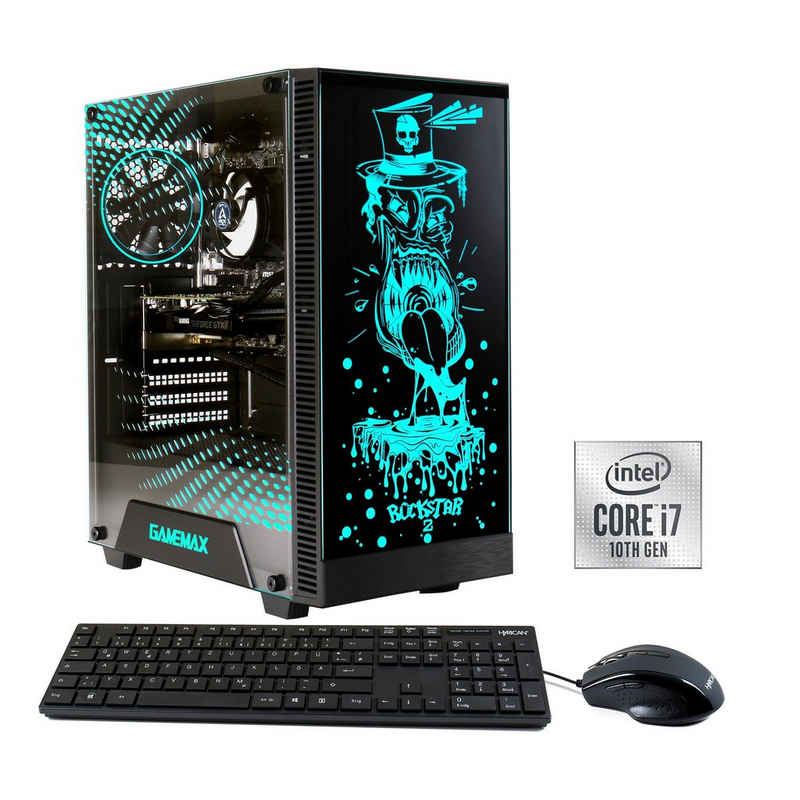 Hyrican Rockstar 6710 Gaming-PC (Intel Core i7 10700F, RTX 3080 Ti, 16 GB RAM, 960 GB SSD, Luftkühlung)