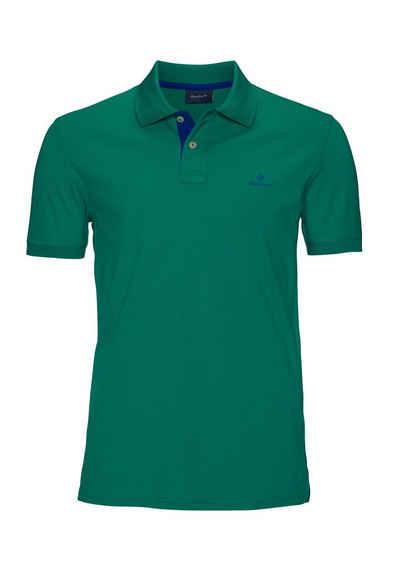 Gant Poloshirt »CONTRAST COLLAR PIQUE RUGGER« formstabil durch Elasthan