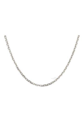 JuwelmaLux Goldkette »Halskette Weißgold Ankerkette 50 cm« (1-tlg), Damen Halskette Weißgold 333/000, inkl. Schmuckschachtel