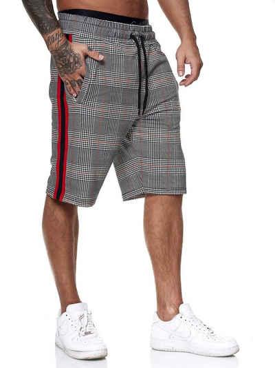 OneRedox Shorts »OneRedox Herren Jogging Hose Jogger Streetwear« (Kurze Hose Bermudas Sweatpants, 1-tlg., im modischem Design) Fitness Freizeit Casual