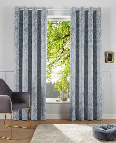 Verdunkelungsvorhang »Gaspar«, Guido Maria Kretschmer Home&Living, Ösen (1 Stück), blickdicht, gewebt, Jacquard mit floralem Muster