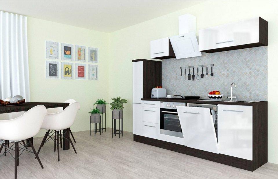 RESPEKTA Küchenzeile »RP250«, mit E-Geräten, Breite 250 cm ...