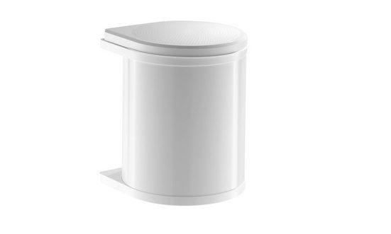 Hailo Einbaumülleimer »Abfallsammler Mono 15 Liter schwenkbar«, für Schrankbreite ab 400 mm mit Drehtür