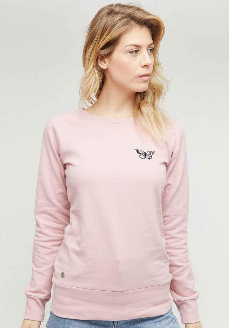 MAZINE Sweatshirt »Marla« femininer Sweater mit kleiner Stickerei