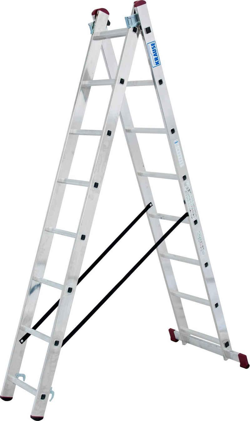 KRAUSE Doppelleiter »Corda«, 2x8 Sprossen