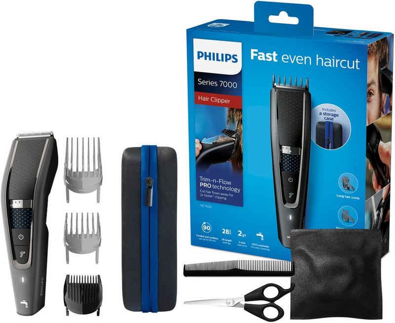 Philips Haarschneider Series 7000 HC7650/15, inklusive Friseur-Set, Trim-n-Flow Pro