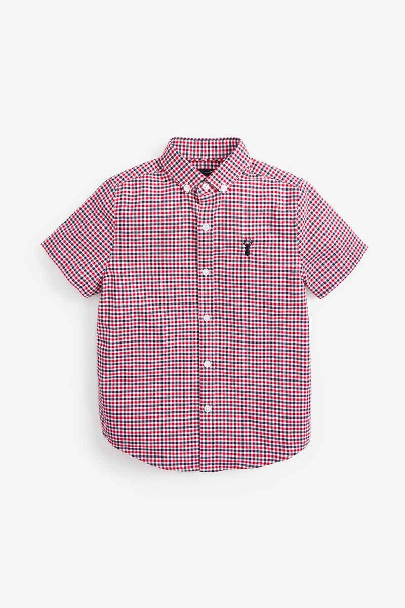 Next Kurzarmhemd »Kurzärmliges Oxford-Hemd mit Vichykaros« (1-tlg)