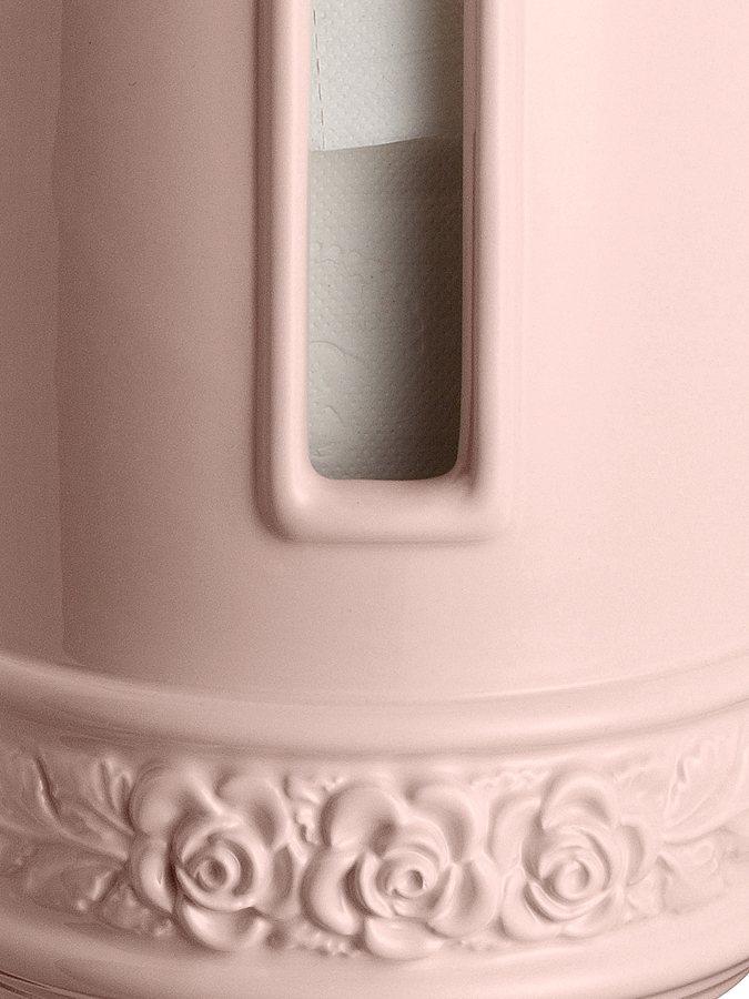 Papierrollen-Behälter in rosé