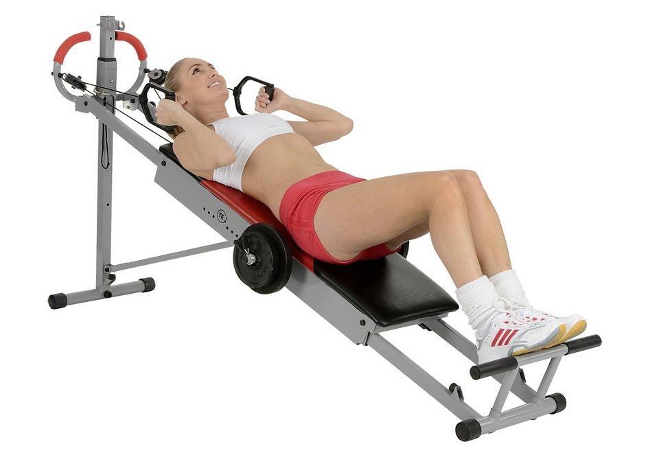 Ganzkörper-Trainingsgerät, Christopeit Sport®, »Total Exerciser TE 1« in silberfarben-schwarz-rot