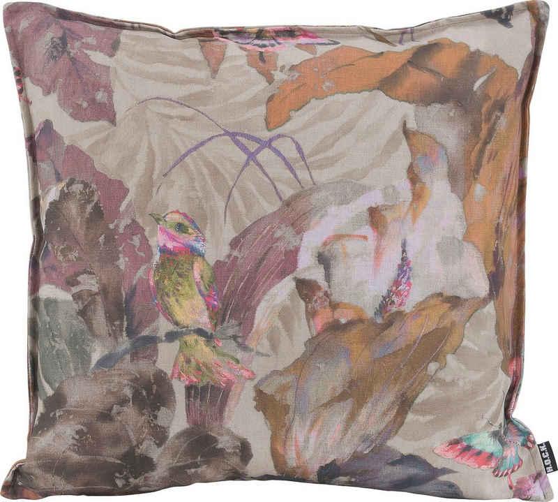H.O.C.K. Dekokissen »Lilly Love«, mit Vogelprint in Aquarelloptik