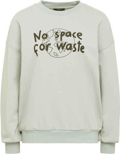 """Mavi Sweatshirt »NO WASTE« mit coolem """"No space for waste"""" Frontdruck"""