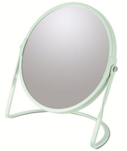 spirella Kosmetikspiegel »AKIRA«, 5-fache Vergrößerung, 2-seitig schwenkbar, matt-satiniert, Ø 17 cm