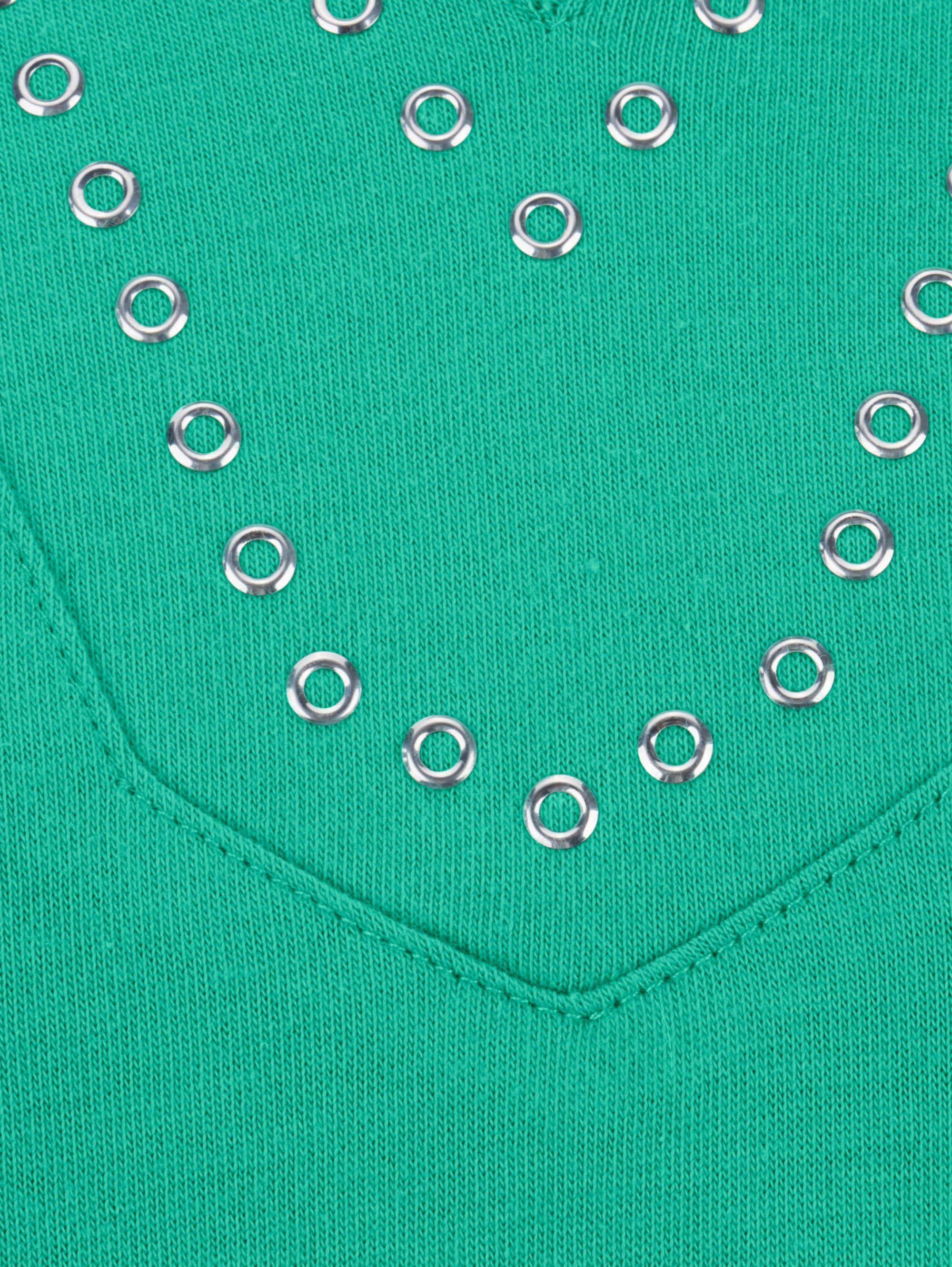 m. collection Shirt mit modischer V-Variante am Ausschnitt