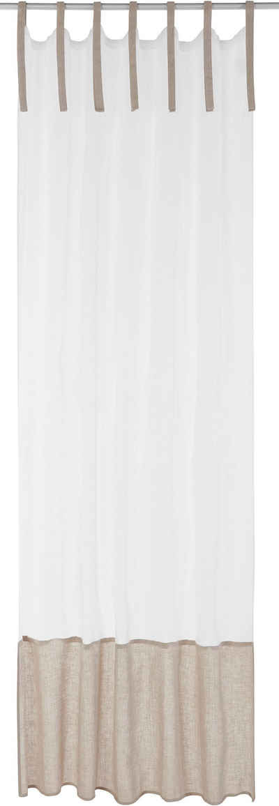 Bindegardine »LINEN«, 170QM, Bindebänder (1 Stück)