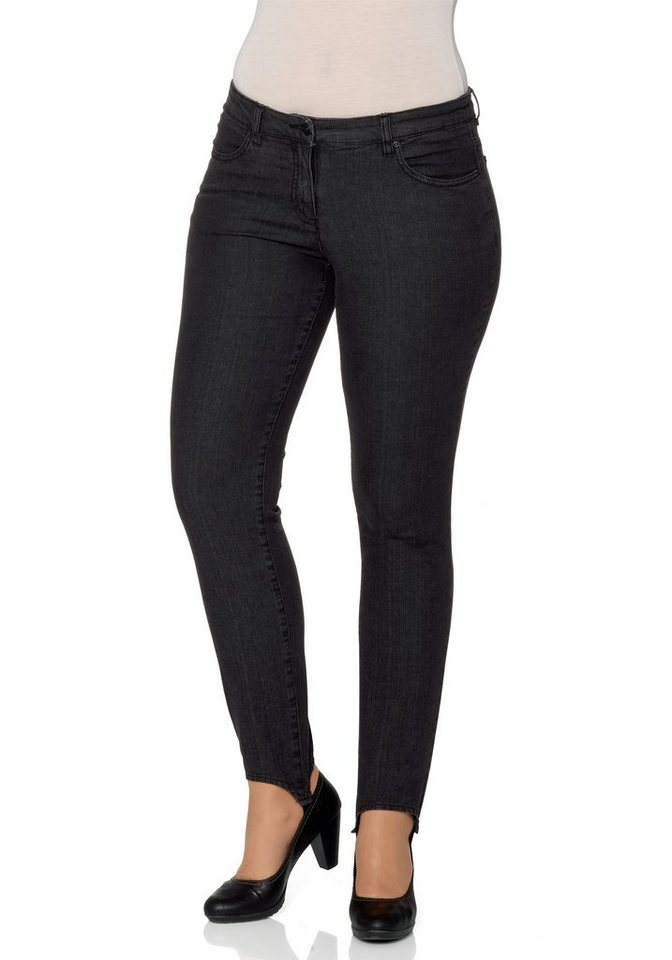sheego Denim Stretch-Jeans-Leggings in schwarz