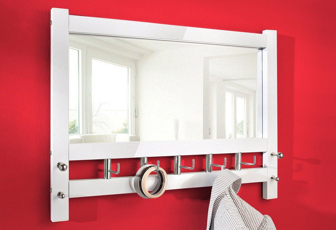 weisse wandgarderobe mit spiegel preisvergleiche. Black Bedroom Furniture Sets. Home Design Ideas