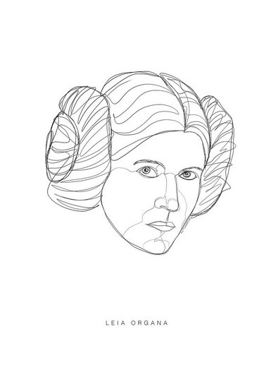 Komar Poster »Star Wars Classic Force Faces Leia«, Star Wars