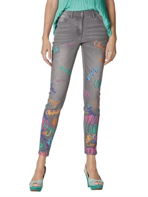Hosen - Amy Vermont 7 8 Jeans mit Druck im Vorderteil ›  - Onlineshop OTTO