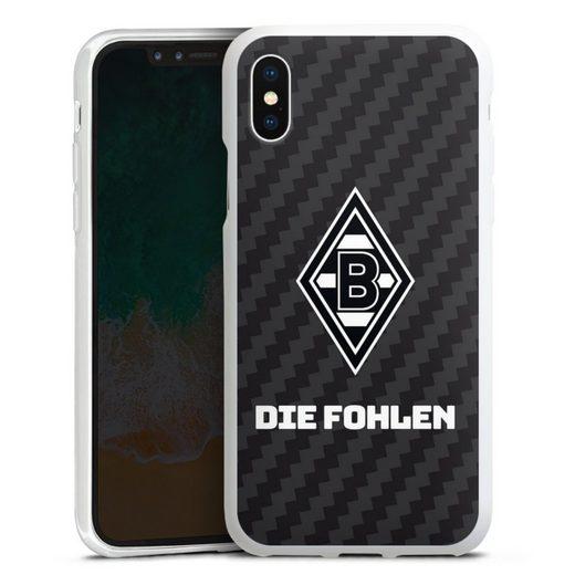 DeinDesign Handyhülle »Die Fohlen Carbon« Apple iPhone X, Hülle Borussia Mönchengladbach Carbon Gladbach