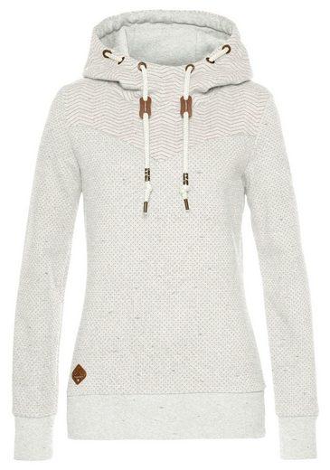 Ragwear Sweater »NUGGIE« mit Mini-Dots und Zig-Zag Allover-Druck