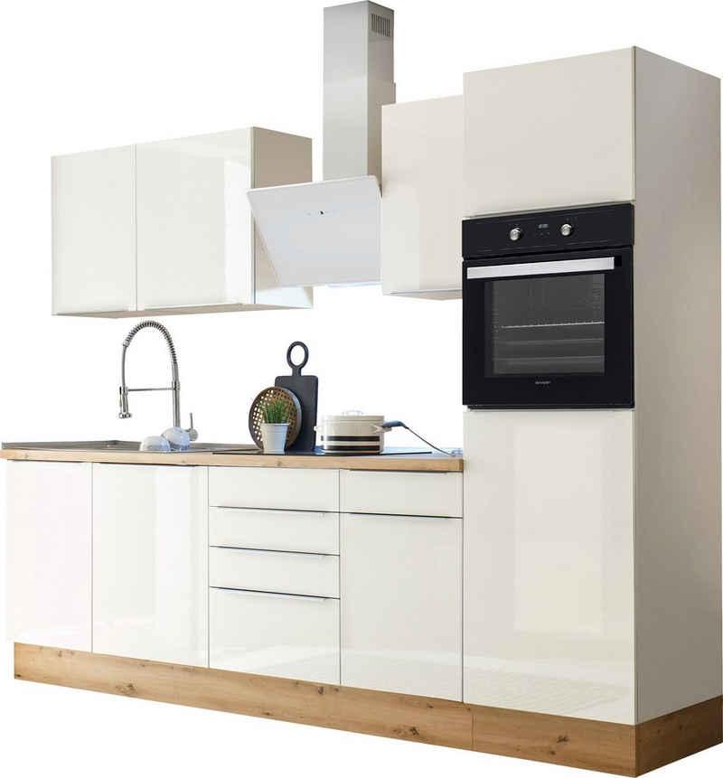 RESPEKTA Küchenzeile »Safado«, mit 2 E-Geräte-Sets zur Auswahl, hochwertige Ausstattung wie Soft Close Funktion, schnelle Lieferzeit, Breite 280 cm