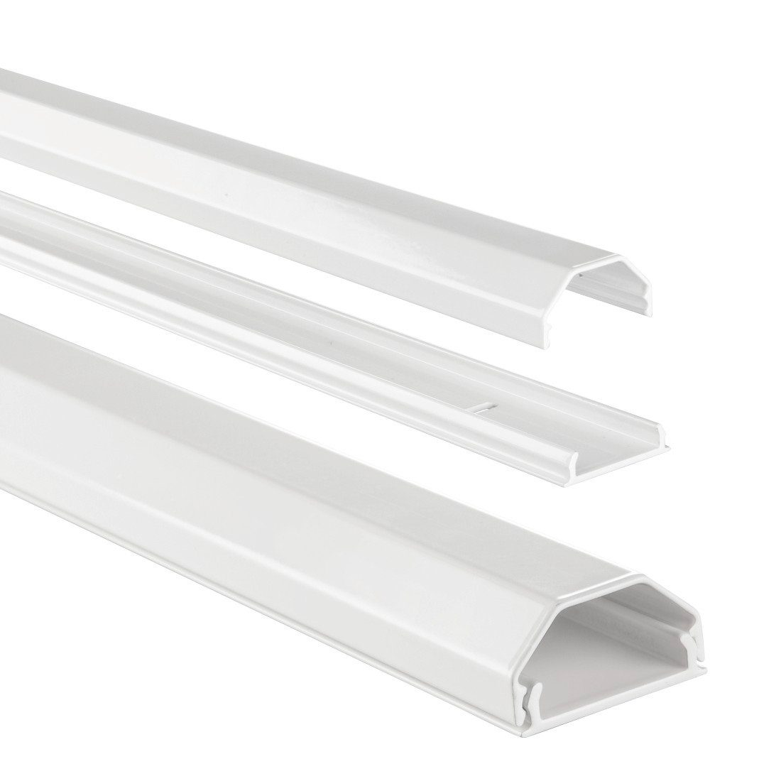 Hama Alu-Kabelkanal, eckig, 110/3,3/1,7 cm, Weiß