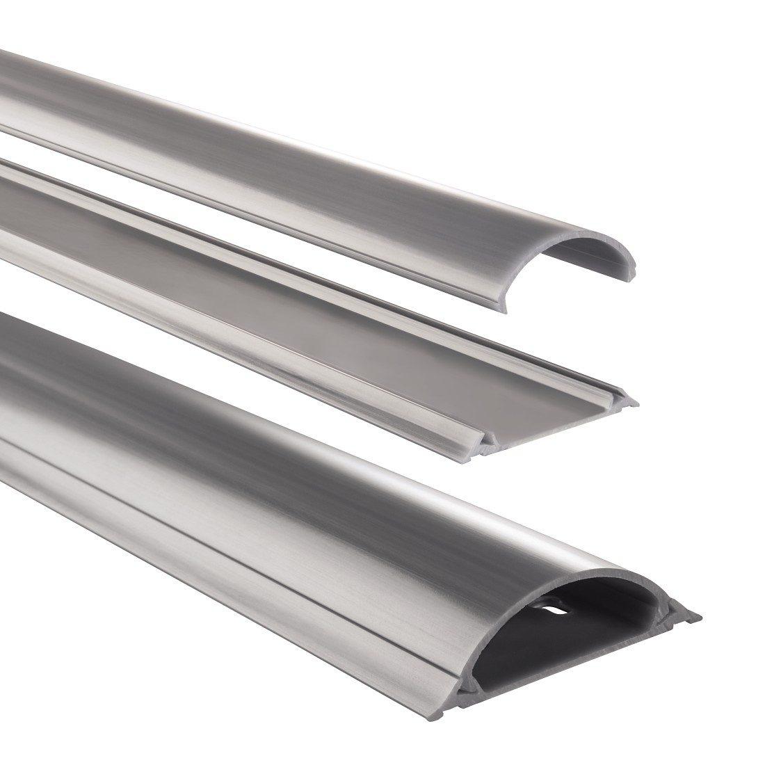 Hama PVC-Kabelkanal, halbrund, 100/7/2,1 cm, Grau