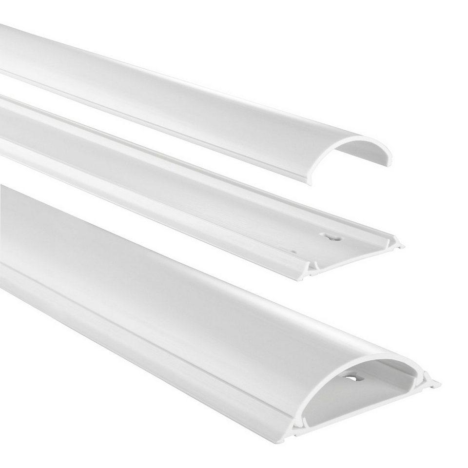 Hama PVC-Kabelkanal, halbrund, 100/7/2,1 cm, Weiß in Weiß