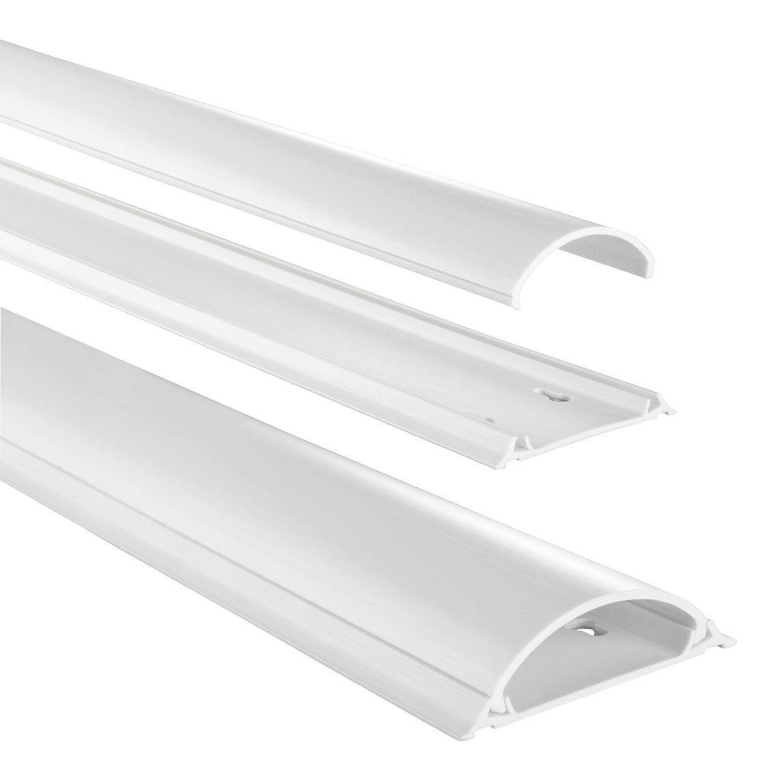Hama PVC-Kabelkanal, halbrund, 100/7/2,1 cm, einfache Montage »weiß«