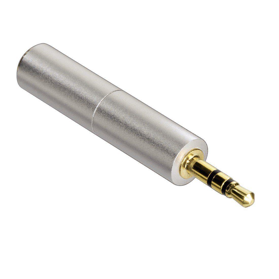 Hama Kompaktadapter AluLine, 2,5-mm-Stecker - 3,5-mm-Kupplung