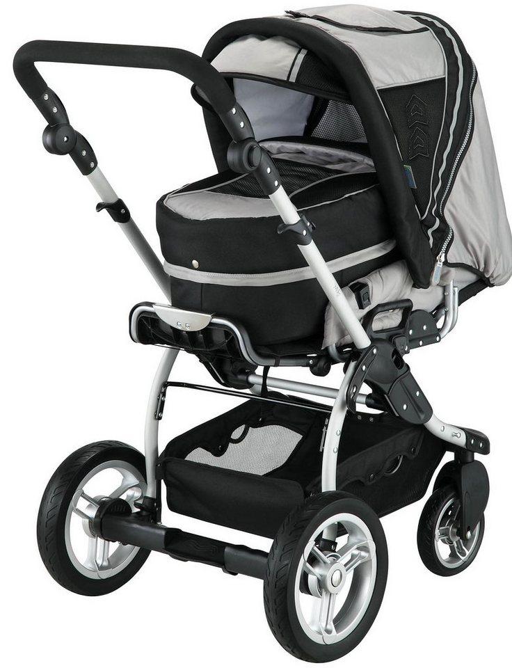 knorr-baby Kombi Kinderwagen Alu Miko, mit 3in1 Tragetasche, silve