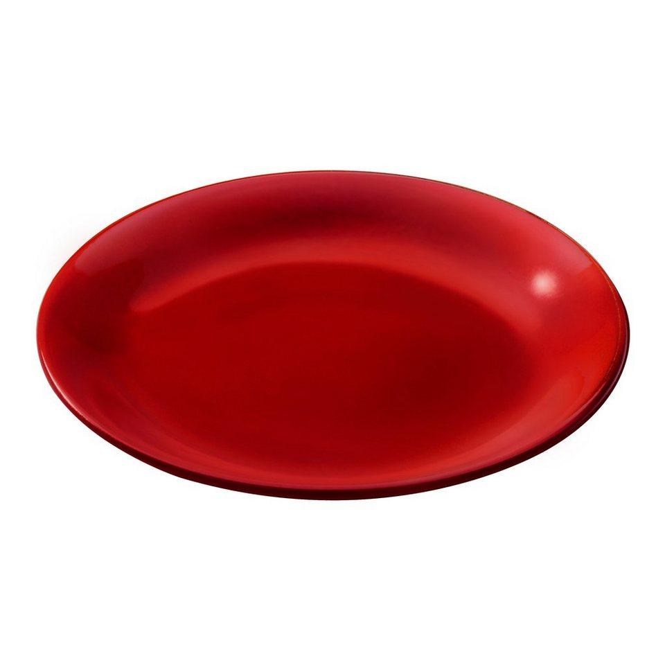 KUHN RIKON Fondue Teller Rot in Rot