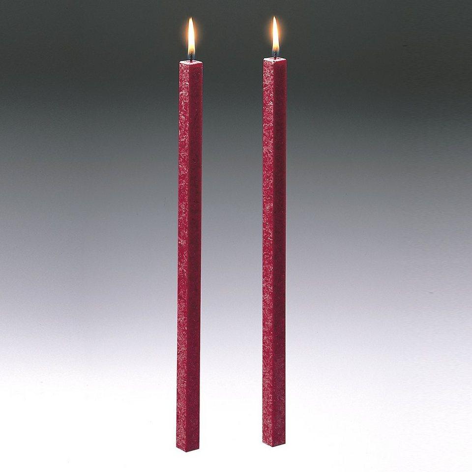 Amabiente Amabiente Kerze CLASSIC rubin 40cm - 2er Set in rubin