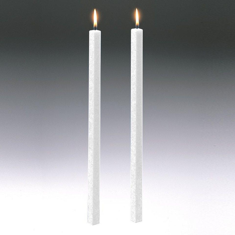 Amabiente Amabiente Kerze CLASSIC weiß 40cm - 2er Set in weiß
