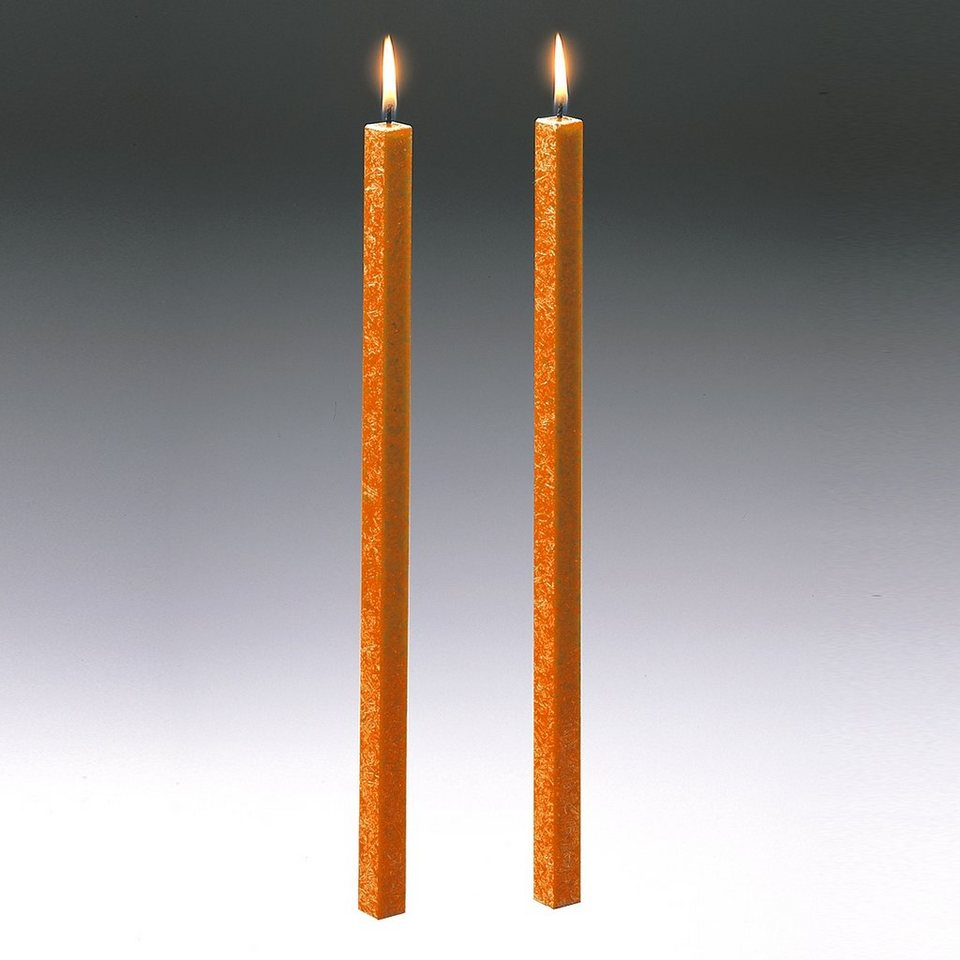 Amabiente Amabiente Kerze CLASSIC orange 40cm - 2er Set in orange