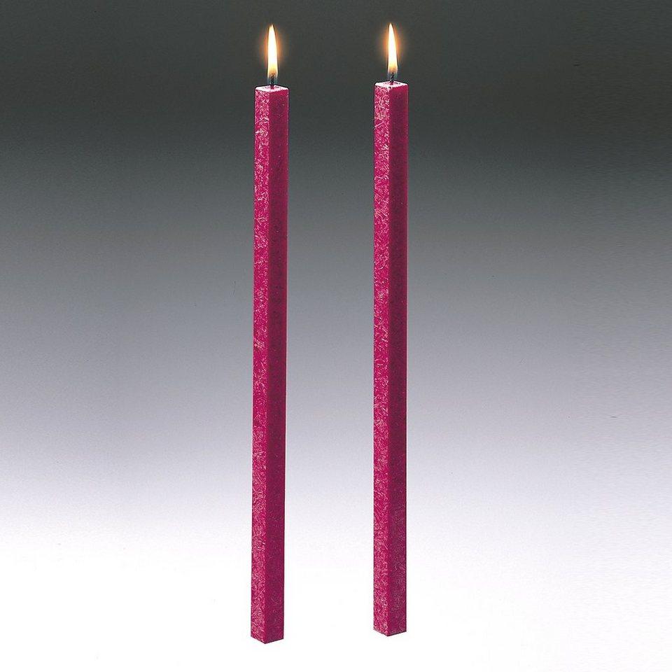 Amabiente Amabiente Kerze CLASSIC fuchsia 40cm - 2er Set in fuchsia
