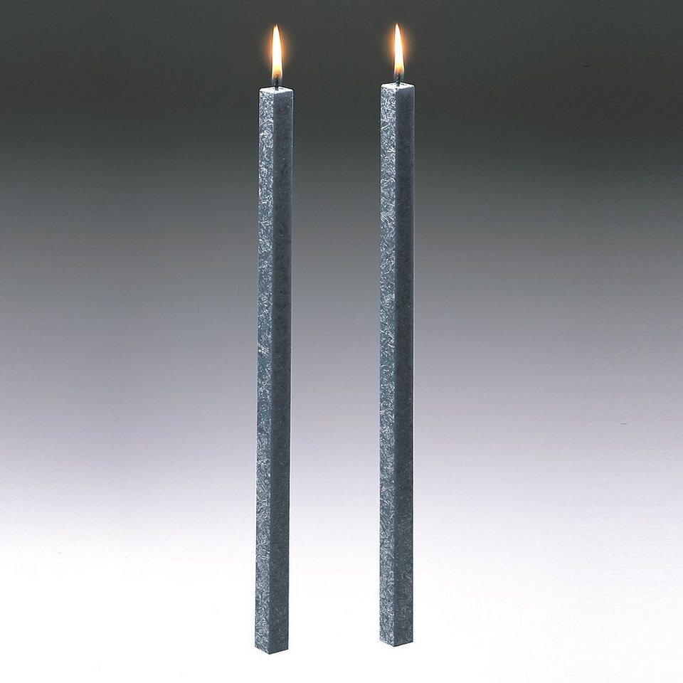 Amabiente Amabiente Kerze CLASSIC stein 40cm - 2er Set in stein