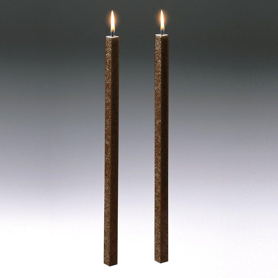 Amabiente Amabiente Kerze CLASSIC kaffee 40cm - 2er Set in kaffee