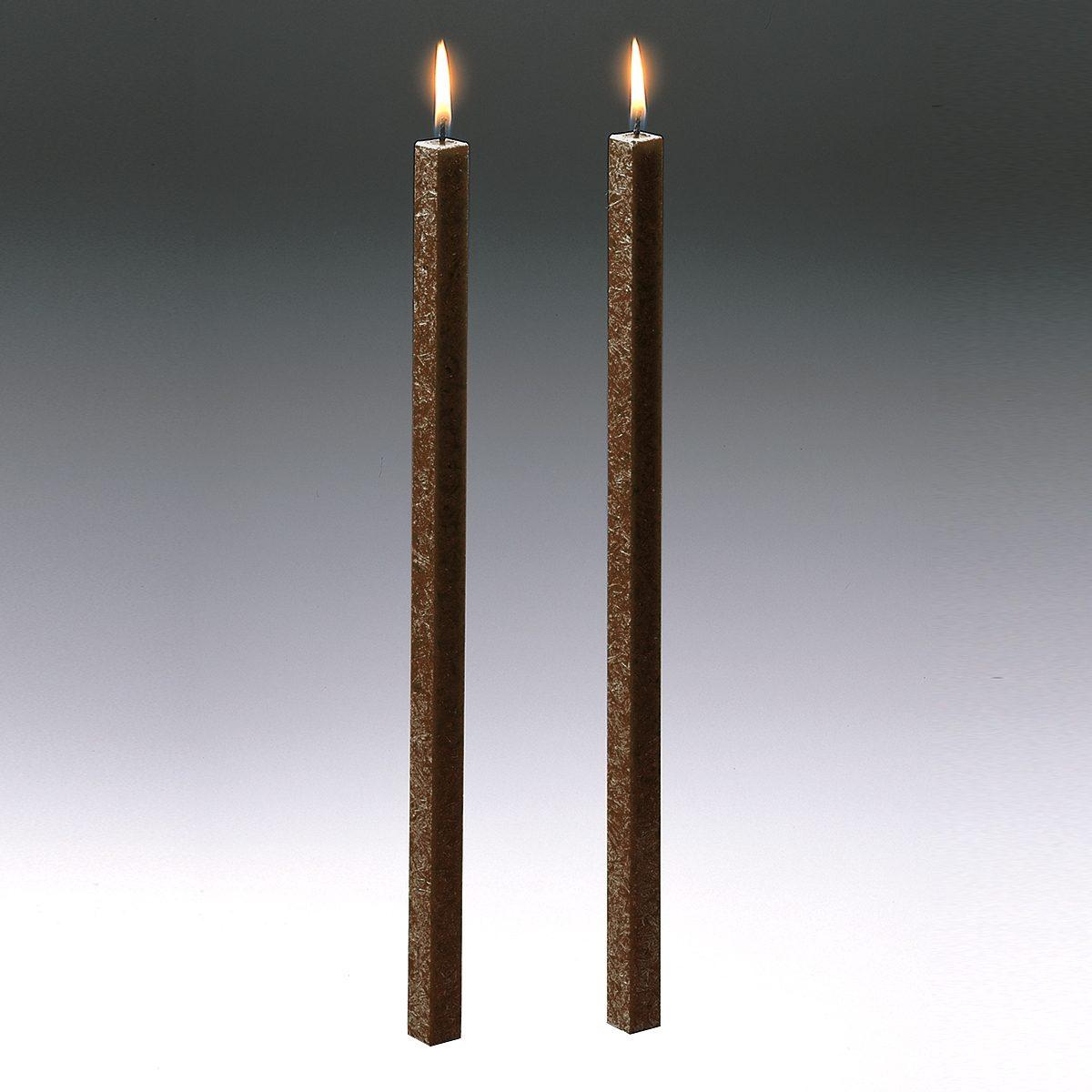 Amabiente Amabiente Kerze CLASSIC kaffee 40cm - 2er Set