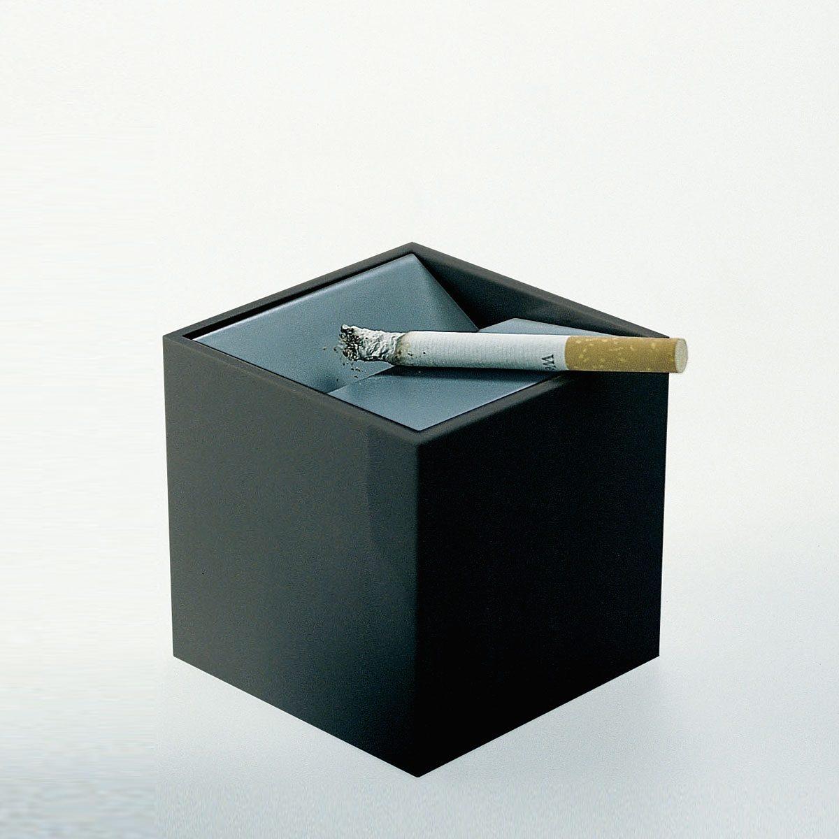 KLEIN UND MORE Klein und More Aschenbecher CUBO schwarz 6cm