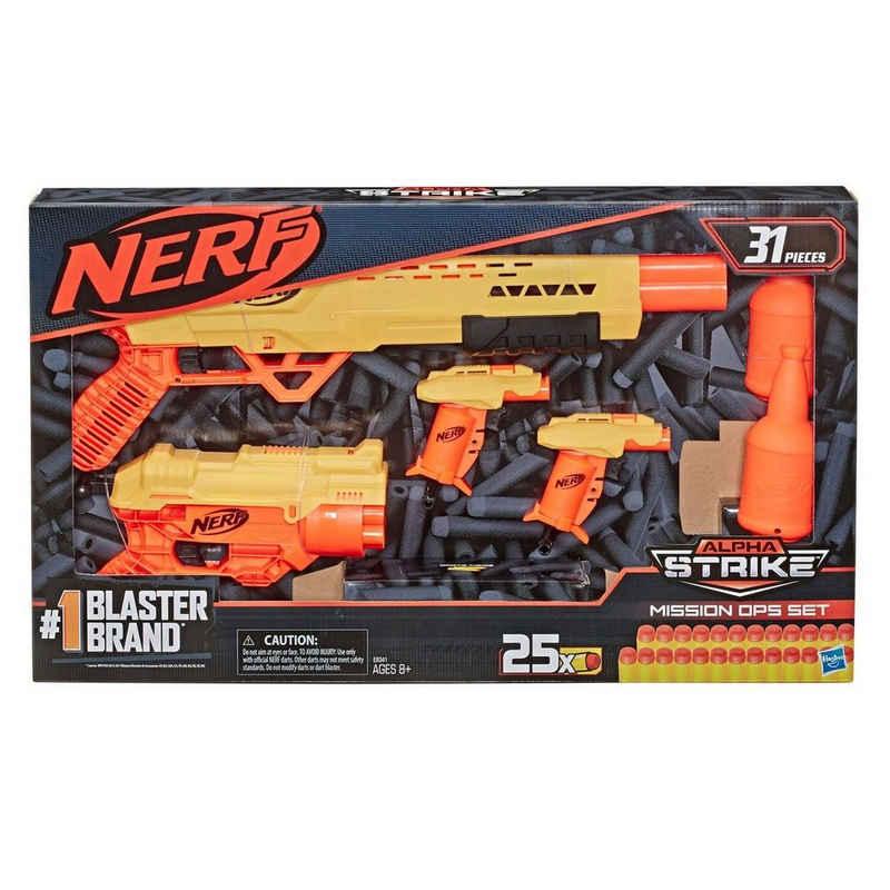 Hasbro Blaster »Hasbro E8341 - Nerf - Alpha Strike - Spielset, Blaster mit Munition, 31 Teile, Mission OPS Set«