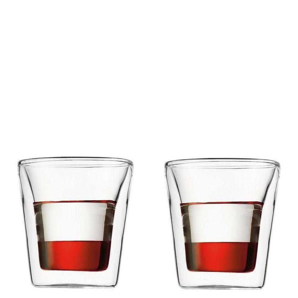 Bodum Bodum CANTEEN Glas doppelwandig 0.1 l - 2er Set in transparent