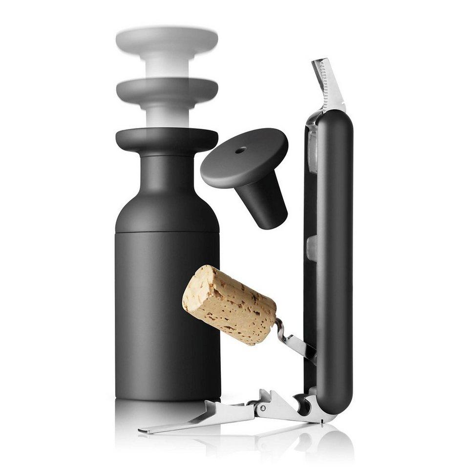MENU Menu SET Kellnermesser und Vakuumverschluss carbon in carbon